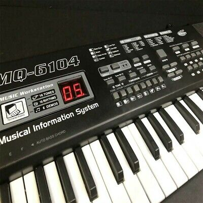 61 Key Electric Digital Piano Organ Beginner Musical Electronic Keyboard W/ Mic