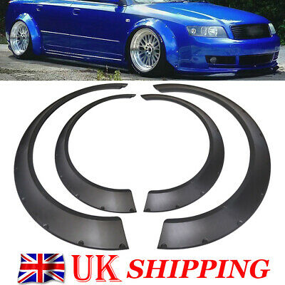 4 Pcs Universal ABS New School Fender Flares Wide Body 3.2''(80mm) + 2.4''(60mm)