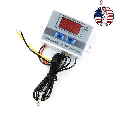 Dc 24v 110v-220v W3001 Digital Led Temperature Controller Thermostat Control Ntc