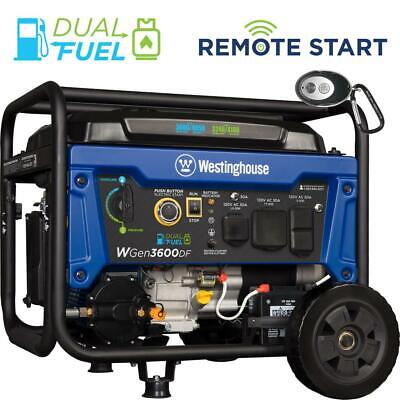 Westinghouse 4650-w Portable Hybrid Dual Fuel Gas Generator With Electric Start