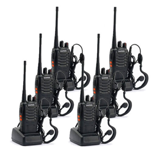 6 * Baofeng BF-888S Walkie Talkie 2 Two Way Radio Handheld L