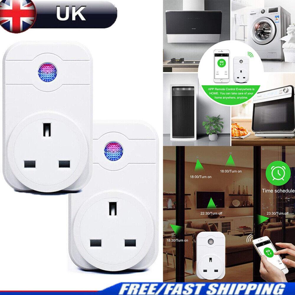 UK Plug Wireless Timer Socket Alexa App