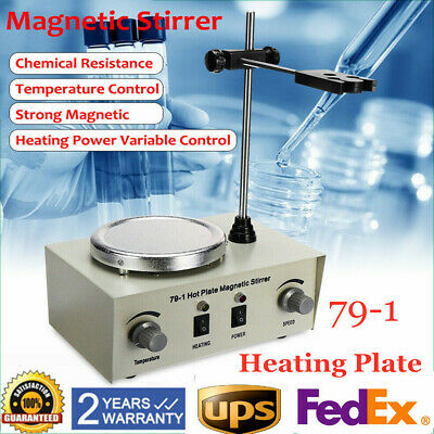 Electric Digital Hot Plate Magnetic Stirrer Thermostatic Heat Strong Mixer 1l