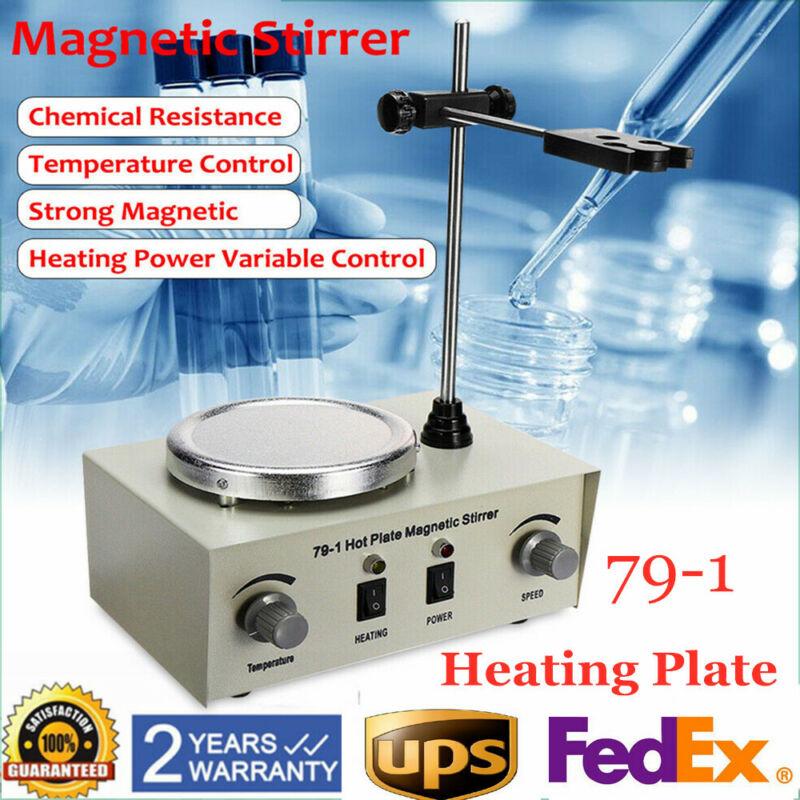 Magnetic Stirrer Hotplate Mixer Heater Lab Digital Bar 0-2400r/min 1000ml 150W