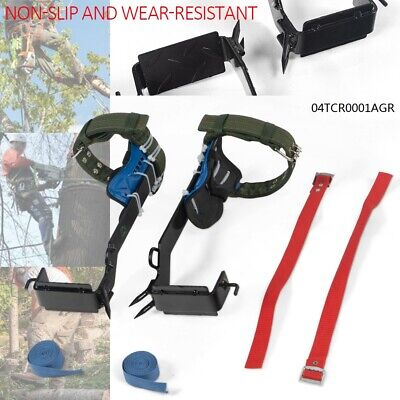 2-gear Tree Climbing Spike Set Safety Belt Lanyard Rope Pedal Adjustable New