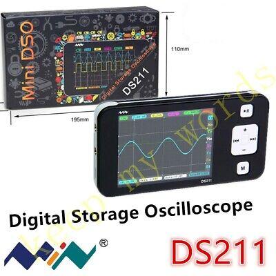 Ds211 Mini Portable 1 Channel Pocket-sized Storage Digital Oscilloscope 1m Sas