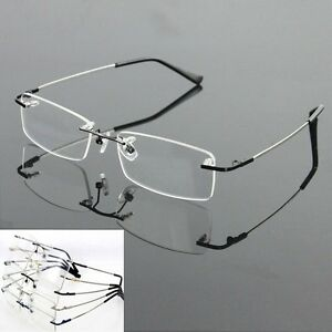 Memory-Titanium-Rimless-Flexible-Eyeglass-Frame-Optical-Hinged-Spectacles-8125