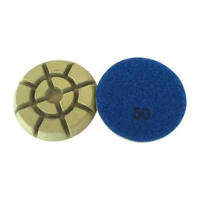 3 Dry Diamond Resin Bond Pads For Concrete Polishing- 50 Grit Of 3pcs Set