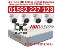 CCTV Hikvision Full HD TurboHD+ Kit - Recorder + 4 Cameras + 1TB Hard Drive ( full kit )