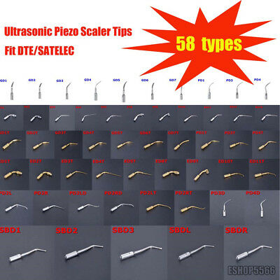 58 Types Dental Ultrasonic Piezo Scaler Tips Fit Dtesatelec Handpiece Ce