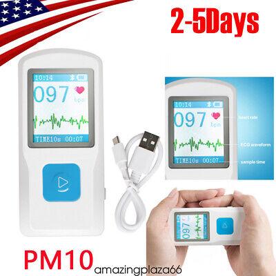Fdace Pm10 Portable Ecgekg Machine Heart Beat Monitor Usb Bluetooth Lcd 2020
