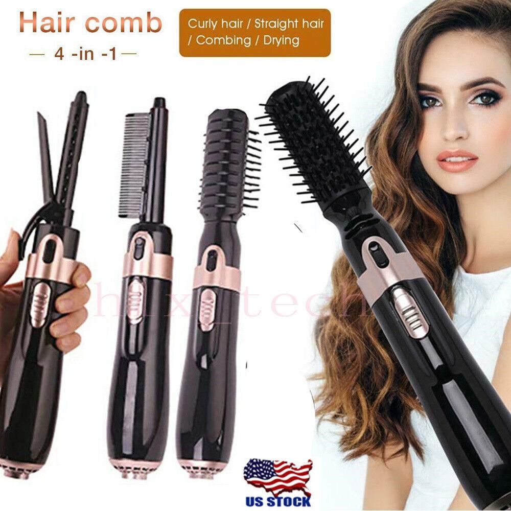 4 In 1 Hair Blow Dryer Straightener Curler Heads Fast Hair C
