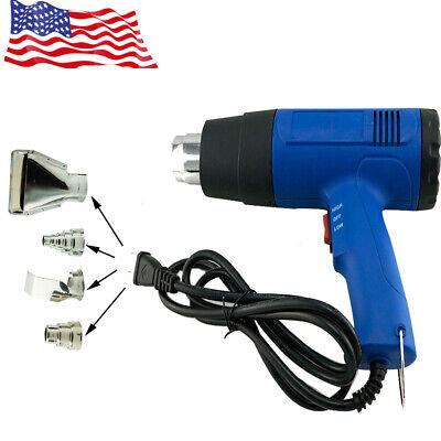 Hot Heat Gun Hot Air Wind Blower Dual Temperature 4 Nozzles Power Heater