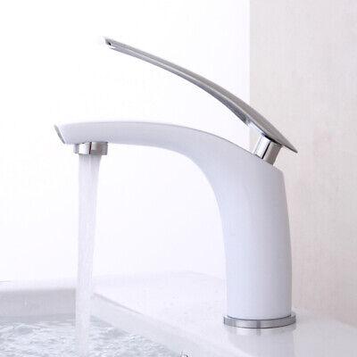 Bad Wasserhahn Waschbecken Einhebelmischer Mischbatterie Waschtischarmatur Weiß Weißen Hahn