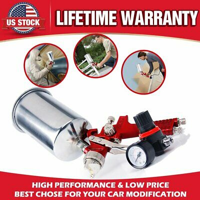 New HVLP Spray Gun Auto Paint Gauge Coat Primer Gravity Feed Sprayer 1.4mm Tip
