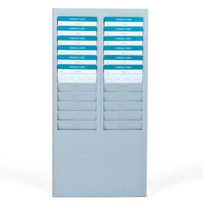 Time Card Rack 24 Pocket Slots Wall Mounted Durable Holder Compatible With