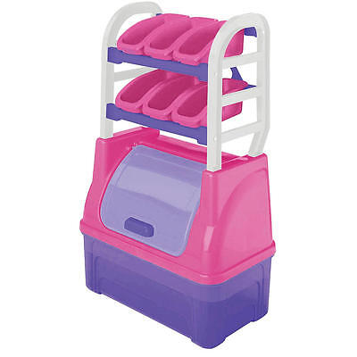 American Plastic Toys Kid's Toy Organizer - Pink/Purple