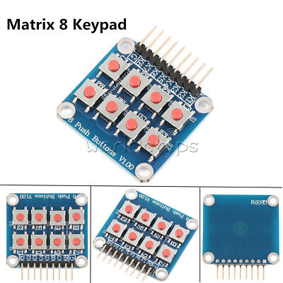 Matrix 8 Keypad Keyboard 8 Push Button V1.00 Tactile Switch For Arduino Avr Pic
