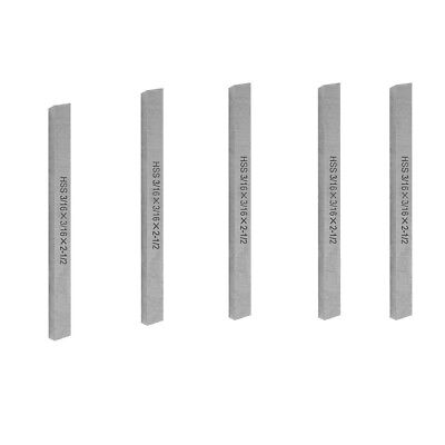 5 Pieces Square 2-12 Inch Long High Speed Steel Cutting Tool Bit Lathe