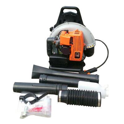 65CC Soplador Aspirador con Motor a Gasolina Soplador de Hoja 2-Tiempos 6800rpm