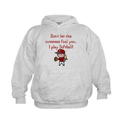 CafePress Softball Girl Kids Hooded Sweatshirt, Classic Hoodie (124273602) Classic Hooded Kids Sweatshirt
