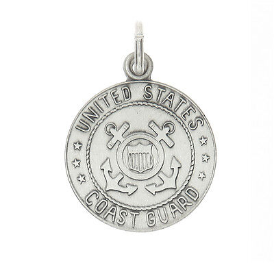 Sterling Silver Licensed United States Coast Guard Charm Pendent