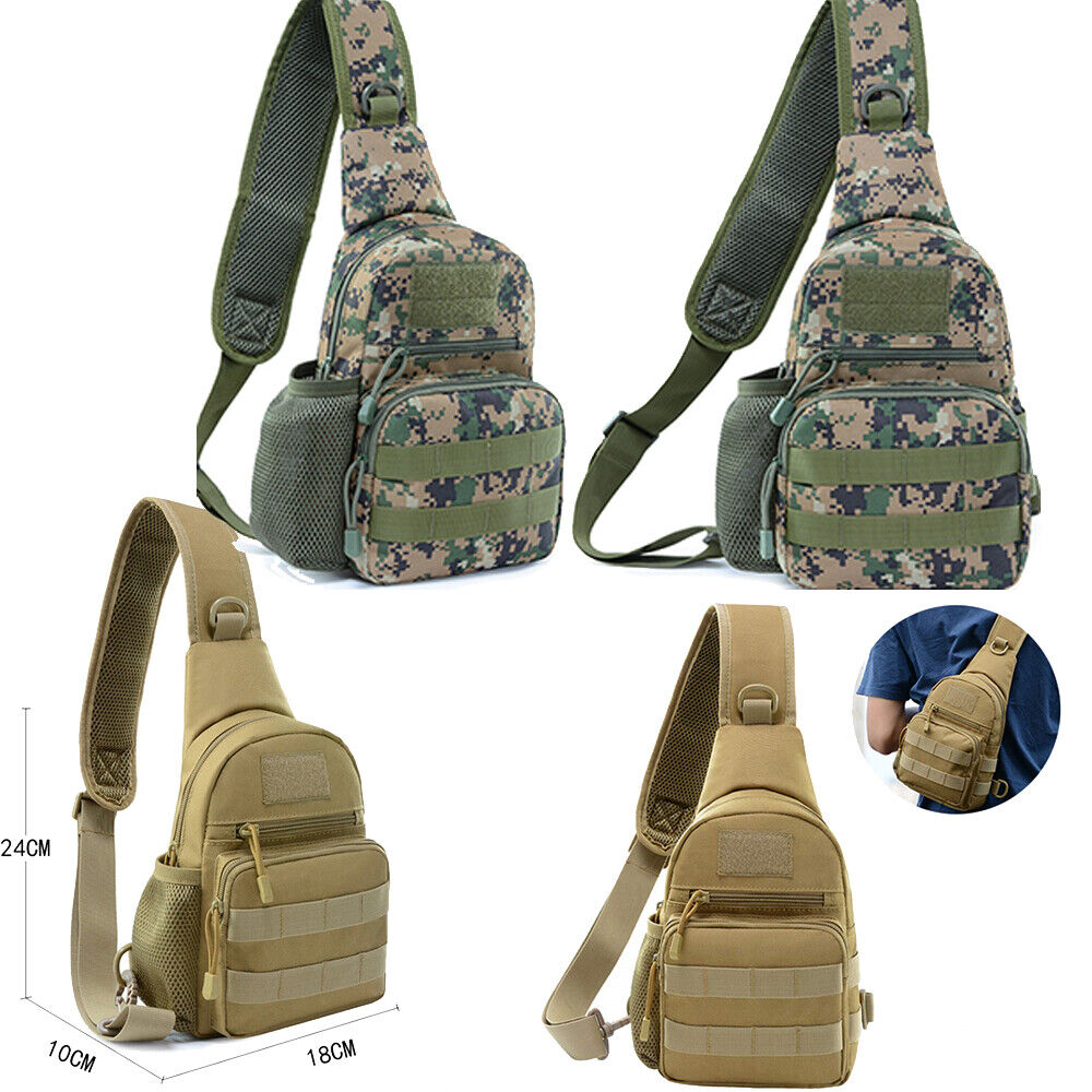 Tactical Chest Bag Trekking Bag Waterproof Outdoor Sports Shoulder Bag Camping Holsters, Belts & Pouches