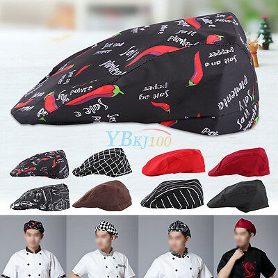 Cook Hats (Mens Womens Chef Hat Catering Baker Sushi Japanese Kitchen Duckbill Cook)