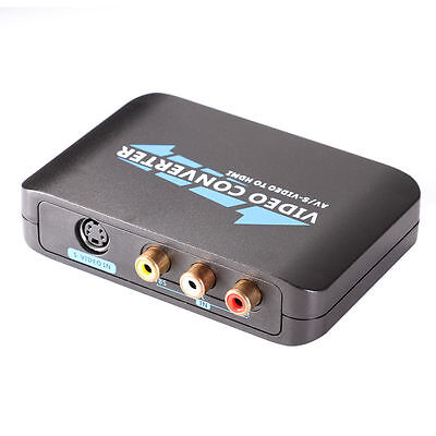 S-video Component Video Converter - AV S-video TO HDMI Component HD HDTV Video Audio Converter Adapter F PS3 TV STB