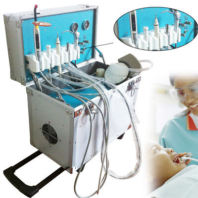 Dental Portable Delivery Unit Rolling Case Curing Lightultrasonic Scaler 2 Hole