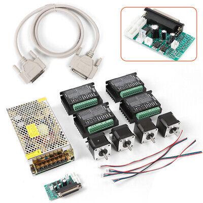 4 Axis Cnc Router Kit Nema23 Stepper Motor Driver Power Supply Energy-saving