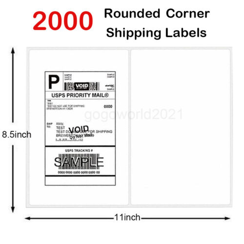 2000 8 5 x5 5 shipping labels