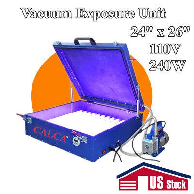 110v Vacuum Exposure Unit 24 X 26 Precise Screen Printing Compressor Outside