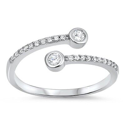 New Style Open CZ .925 Sterling Silver Ring Sizes 4-10