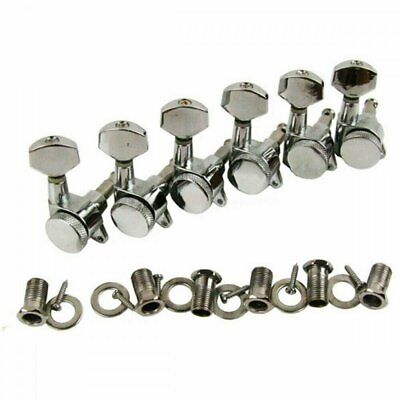 Guitar Locking Tuners Tuning Pegs 6 in line (right) Chrome for Strat style 6 In Line Locking Tuners