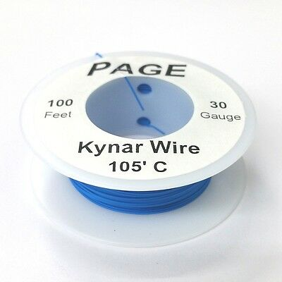100 Page 30awg Blue Kynar Insulated Wire Wrap Wire 100 Foot Roll Made In Usa