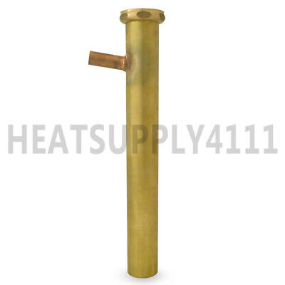 1-12 X 12 17ga Flanged Dishwasher Tailpiece W 12 58 Od Copper Branch