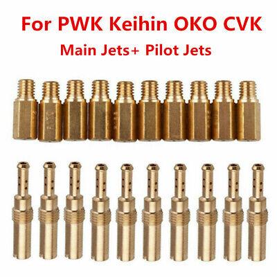 Carburetor Main Jet Slow/Pilot Jet 20pcs/set For PWK Keihin OKO CVK Kit US Stock