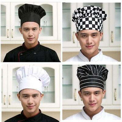 Cook Hats (Kitchen Chef Hat Adjustable Elastic Baker Cap Cooking Catering Fashion)