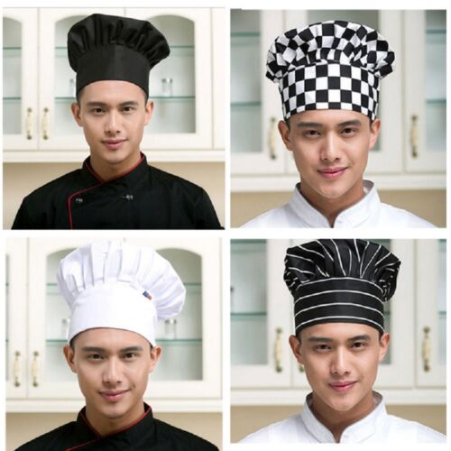 Unisex Kitchen Chef Hat Adjustable Elastic Baker Cap Cooking Catering Tool WH1