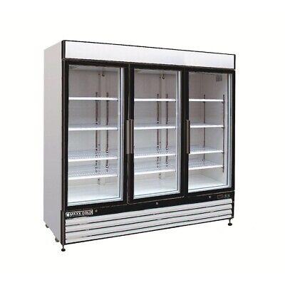 Maxx Cold Mxm3-72f 2 Glass Door Freezer Pull Out Doors