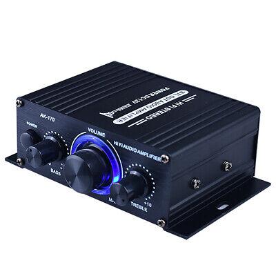 400W Stereo Audio Amplificador Coche Home Hifi Música USB Fm 12V Mini...