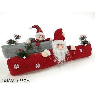 Cuscino natalizio per addobbi decorazioni natalizie di casa babbo natale pupazzo