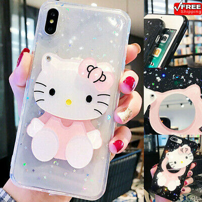 Hello Kitty Pttern Soft TPU Phone Case For iPhone 11 Pro 6s 7 8 XR new year Xmas ()