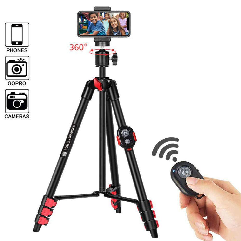 "Selfie Stick Tripod Extendable 54"" Bluetooth Remote Control"
