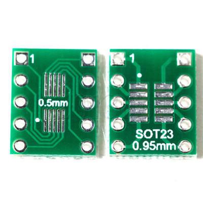10pcs Sot23 Ssop10 Msop10 To Dip10 0.50.95mm Adapter Breakout Pcb Converter Ass