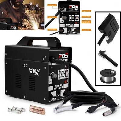 Welder Mig No Gas 110v Welding Machine Automatic Feed Flux Core With Welder Mask