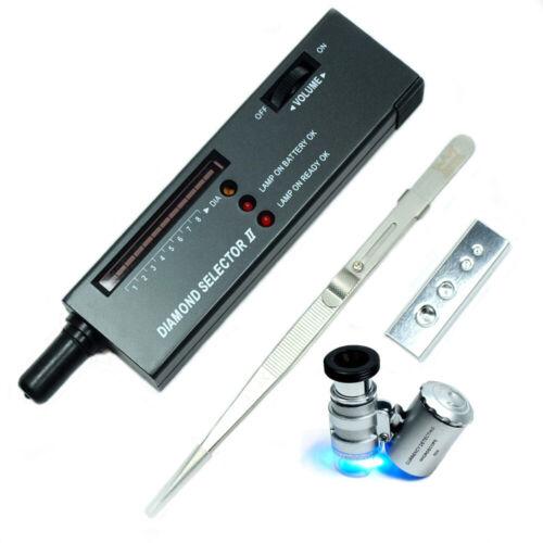Jeweler diamond tool kit : Portable Diamond Tester - Loupe - Gemstone Tweezers