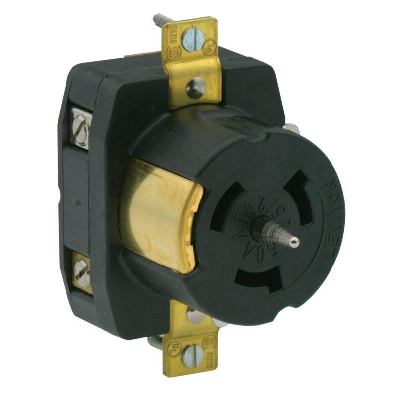 Leviton CS6369 50Amp 125/250Volt Locking Flush Mount Receptacle California-Style