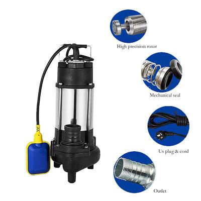 Sewage Pump 12 Hp 110v Max 3200 Gph. 20 Cable Plug Heavy Duty60hz